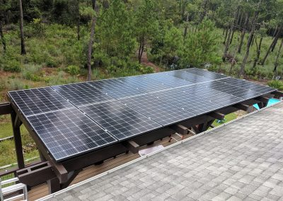 Grid tie solar pergola project collaborated with Independent Green Technologies.