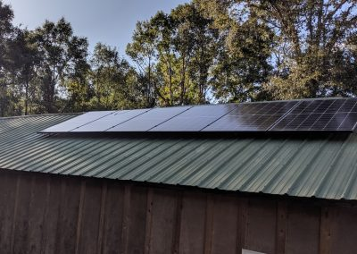 We used a sol-ark and fortress lithium ion batteries to bring poser to this off-grid farm outside of Albany, Georgia.