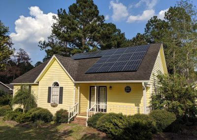 Image 2- A grid tie system with battery backup made this small home in Moultrie, Georgia NetZero!