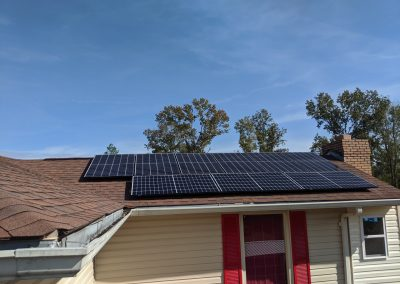 Grid tie and battery backup with a lithium-ion phosphate battery, for this customer in Albany, Georgia.