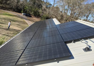 Super clean grid tie system on this home in LaGrange, Georgia.