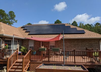 Another large grid tie with battery backup system in Hawkinsville, Georgia.