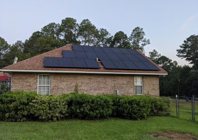 Image 4 - Another large grid tie with battery backup system in Hawkinsville, Georgia.
