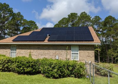 Image 5 - Another large grid tie with battery backup system in Hawkinsville, Georgia.